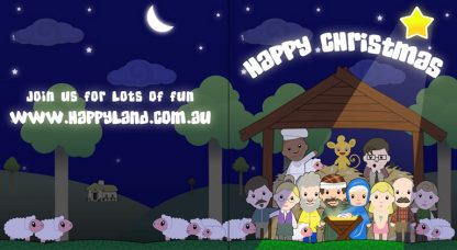 Free Happyland Christmas Cards-0